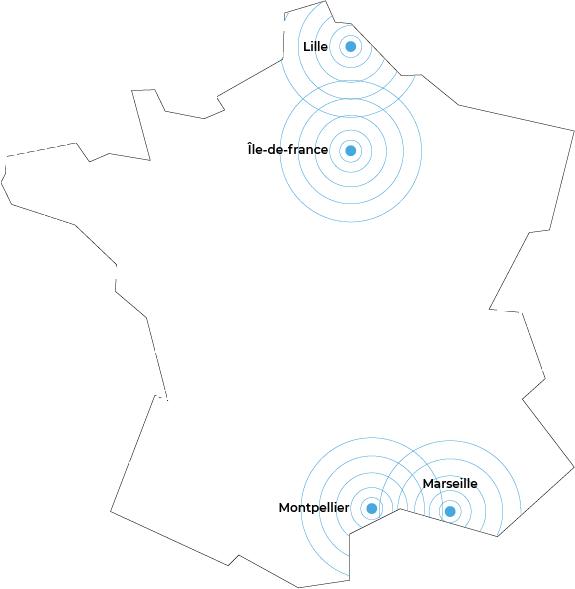 map france avec point des agences